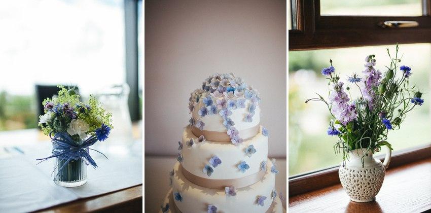 Spring floral wedding details