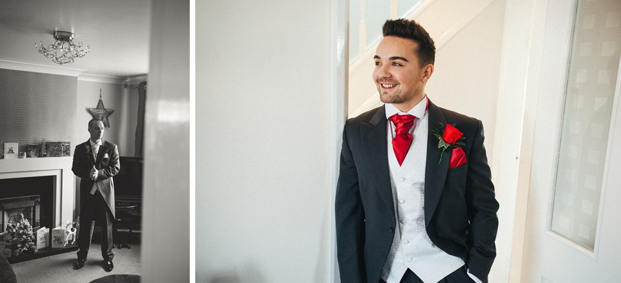 The Groom's suit and rose buttonhole