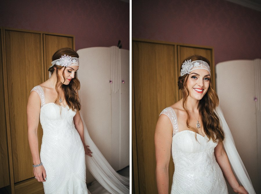 Boho bride in pronovias dress