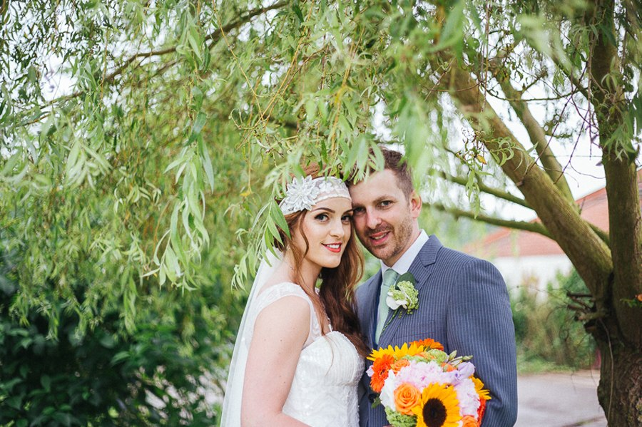 Couple portraits villa farm wedding