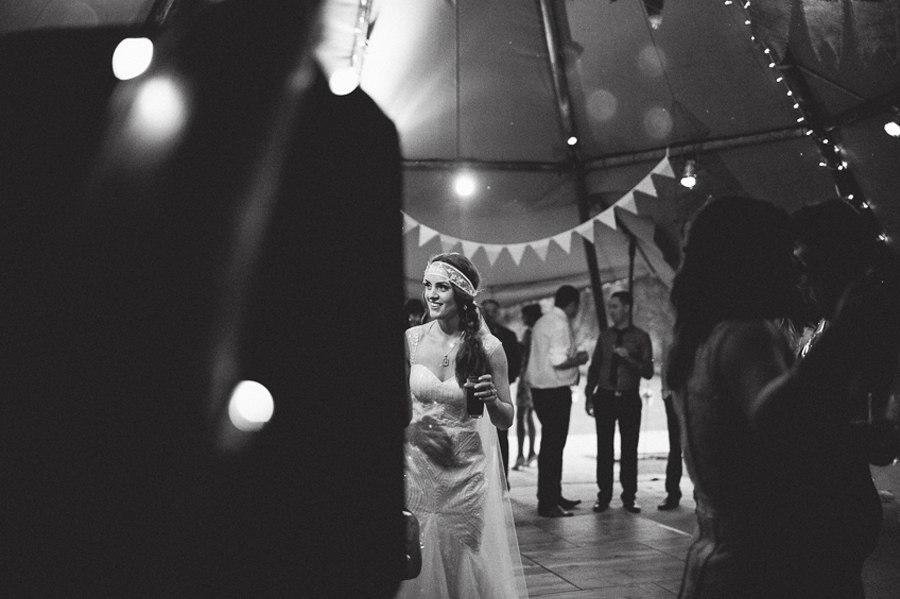 Boho festival bride