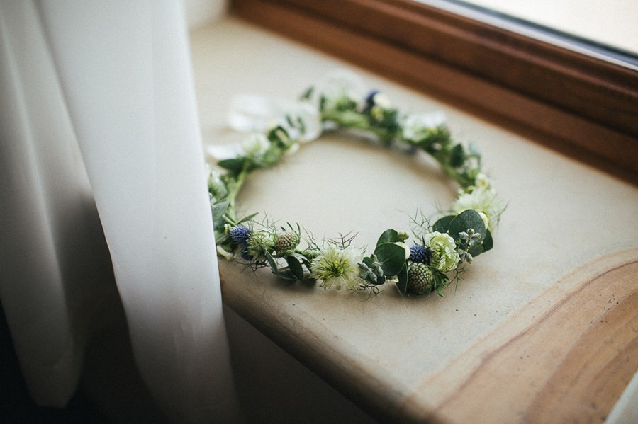 Beautiful spring flower crown