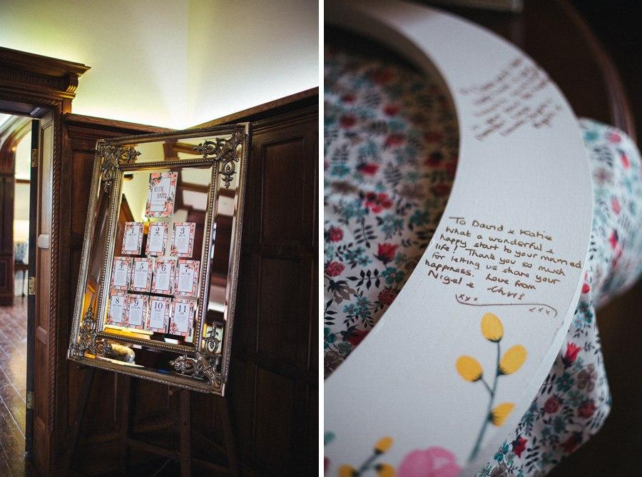 Stylish wedding table plan