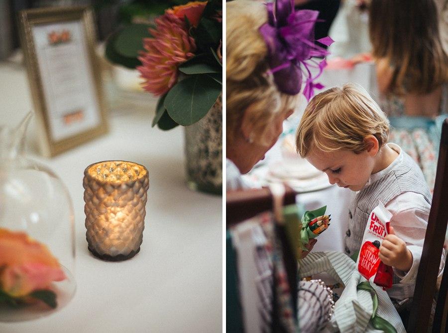 Stylish wedding details