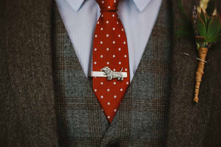 Groom's wedding tie pin