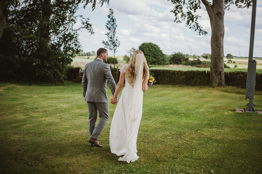 Rustic Barn Cubley Hall Wedding with a lace Jenny Packham Dress