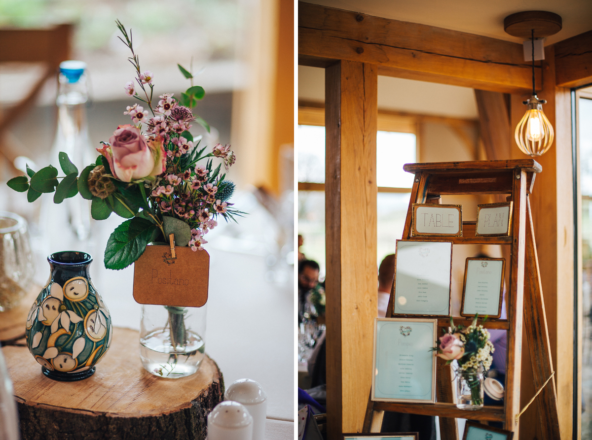 Rustic barn wedding details