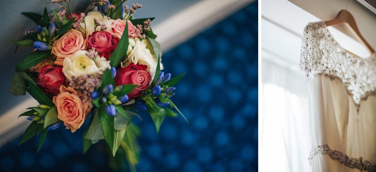 DIY bridal bouquet, vintage wedding, Yorkshire wedding photography.