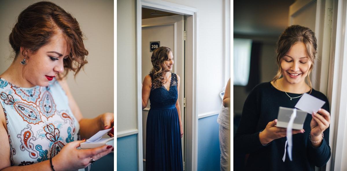 Bridesmaids, blue bridesmaid dresses, natural wedding photography.