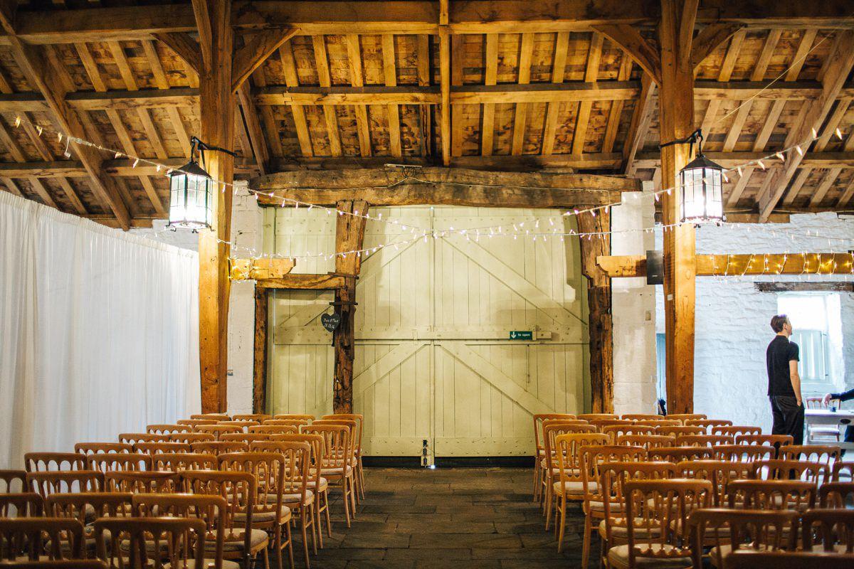 East Riddlesden Hall wedding barn.