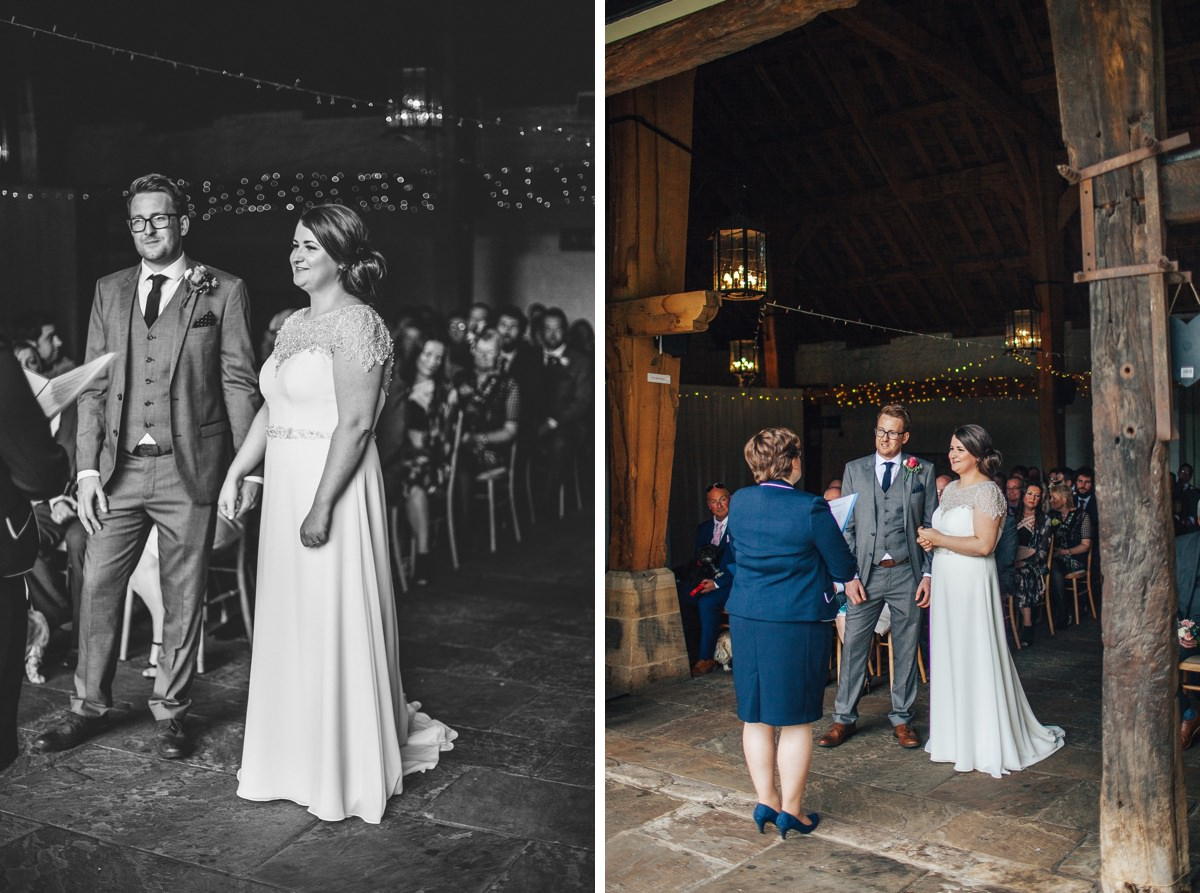 Relaxed wedding photography East Riddlesden Hall.
