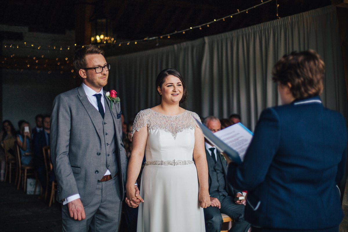 Relaxed East Riddlesden Hall ceremony.