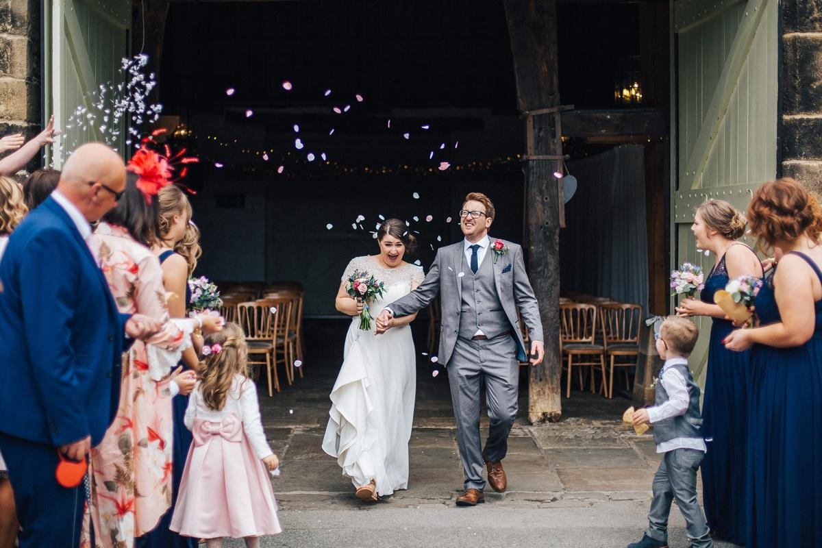 Wedding Confetti, East Riddlesden Hall.