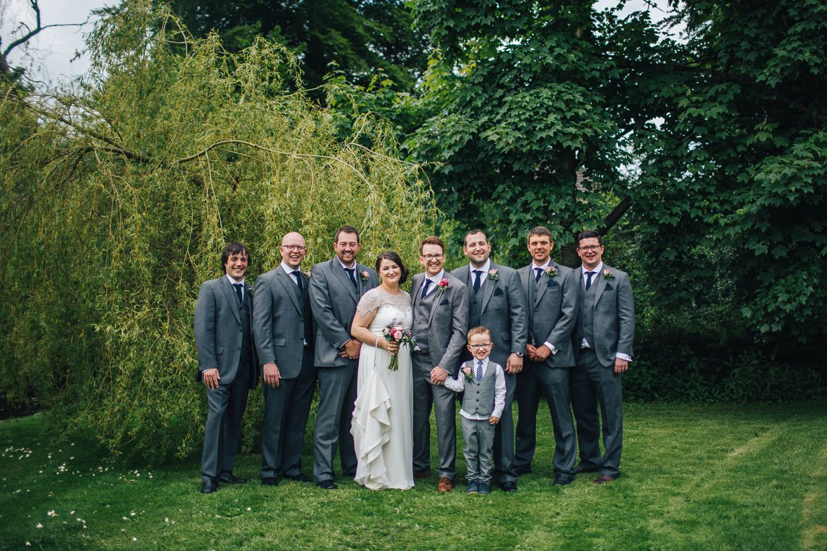 East Riddlesden Hall wedding portraits.