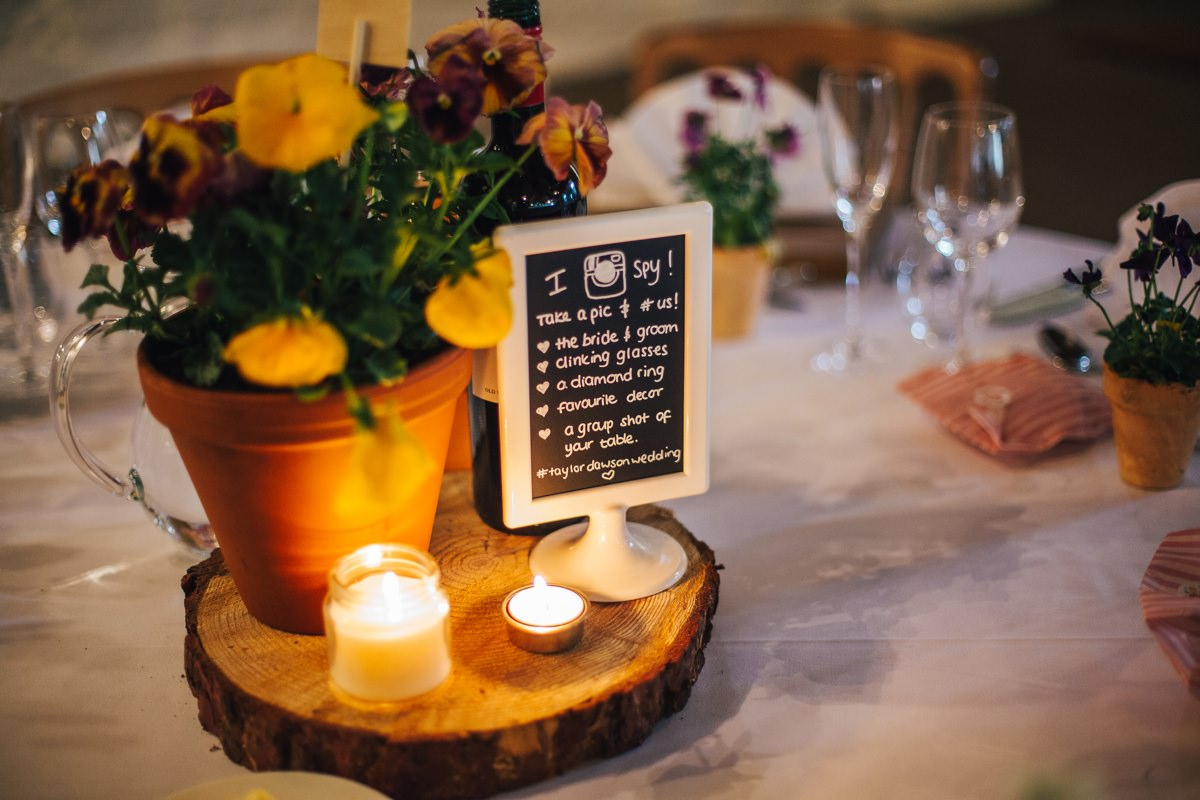 Rustic wedding details, wedding barn Yorkshire.