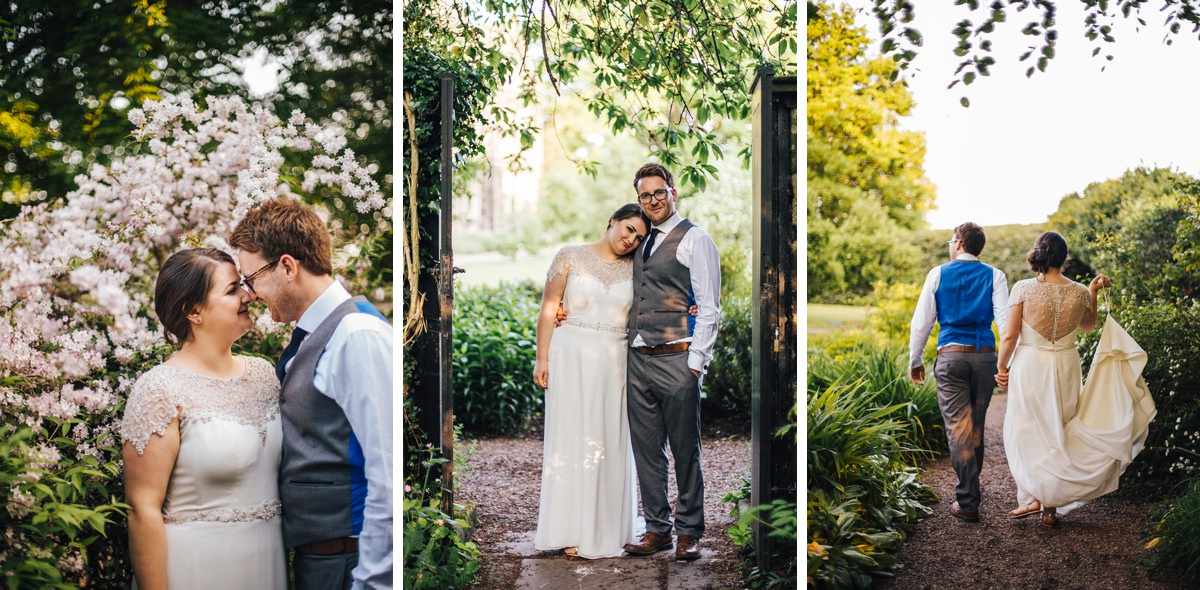 Bride and groom portraits. Relaxed wedding photography.