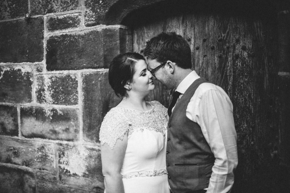 Bride and groom portraits. Wedding photographer Yorkshire.