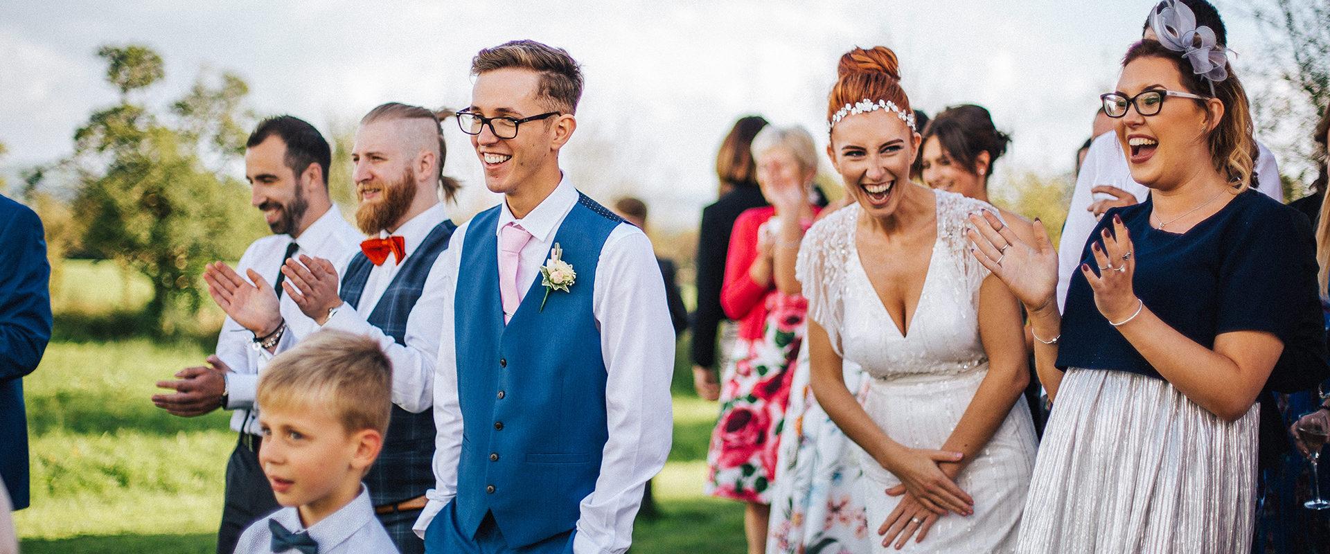 Natural documentary wedding photos Lancashire