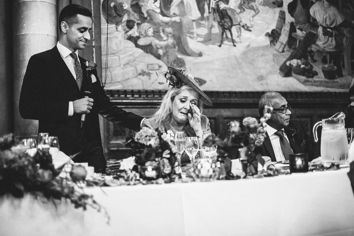 Emotional wedding speech at Manchester Town Hall
