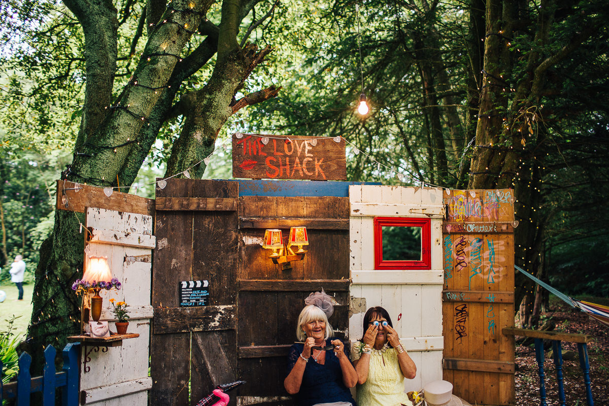 Rustic outdoor photobooth