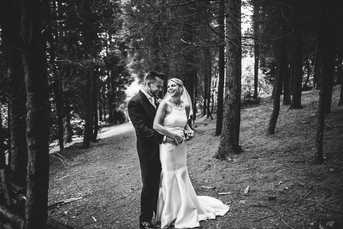 Forest wedding portraits