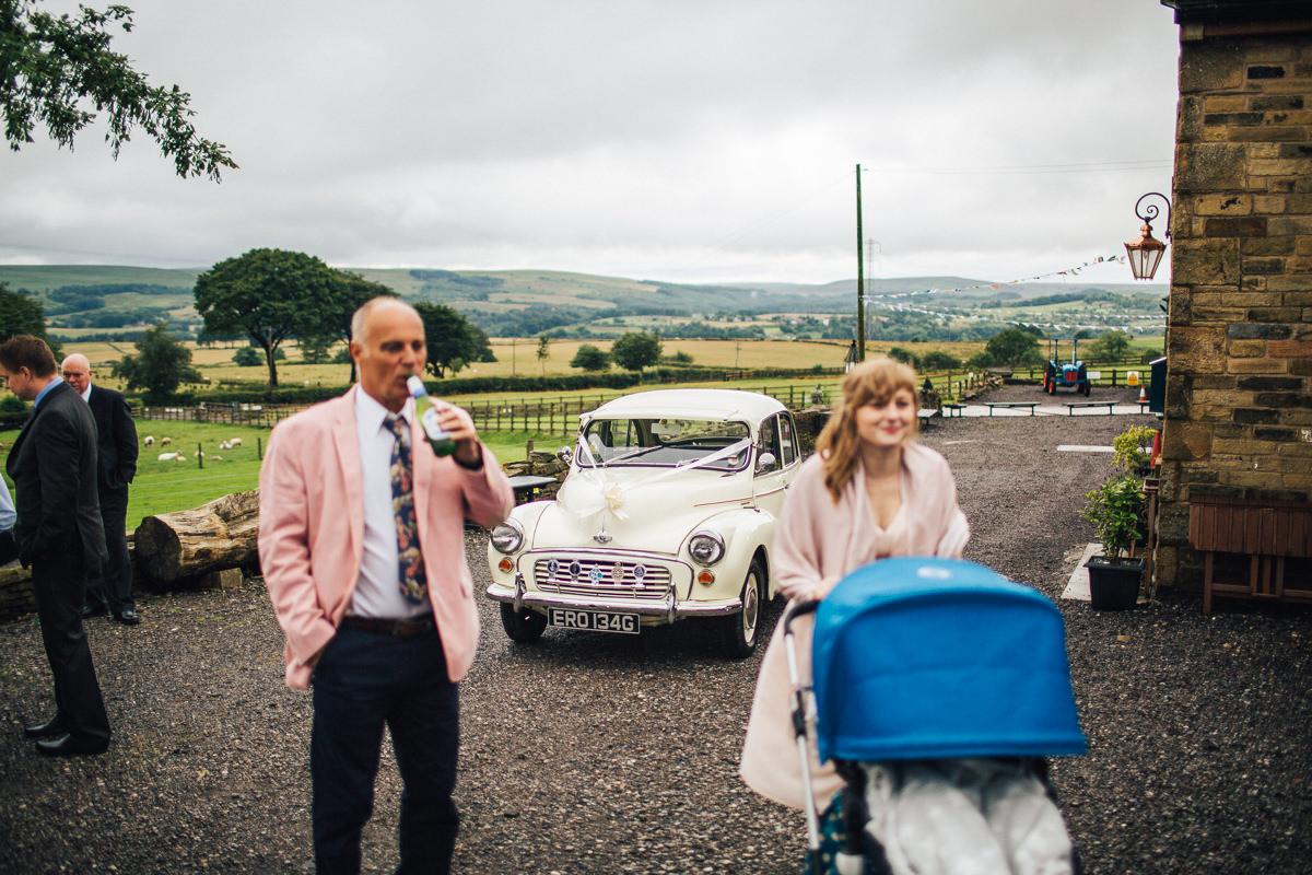Morris Minor vintage wedding car