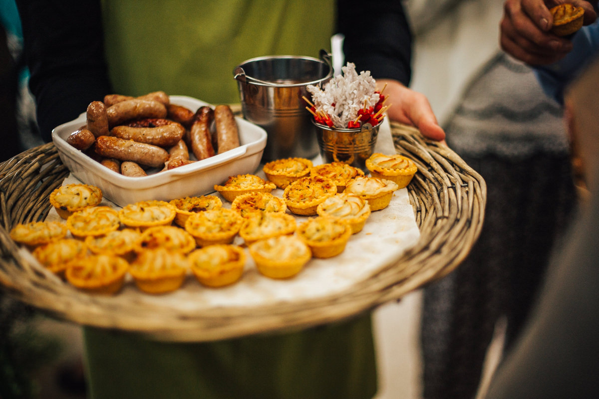 Wedding food canapes