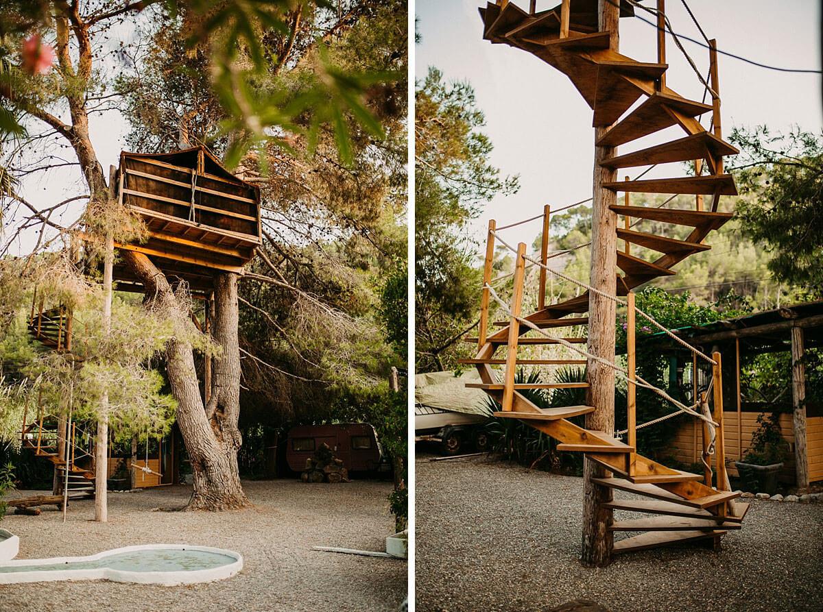 Tree House at Hidden Bar Ibiza