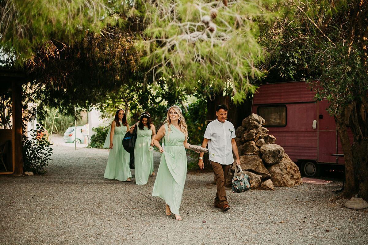 Bridesmaids arriving at the Hidden Bar