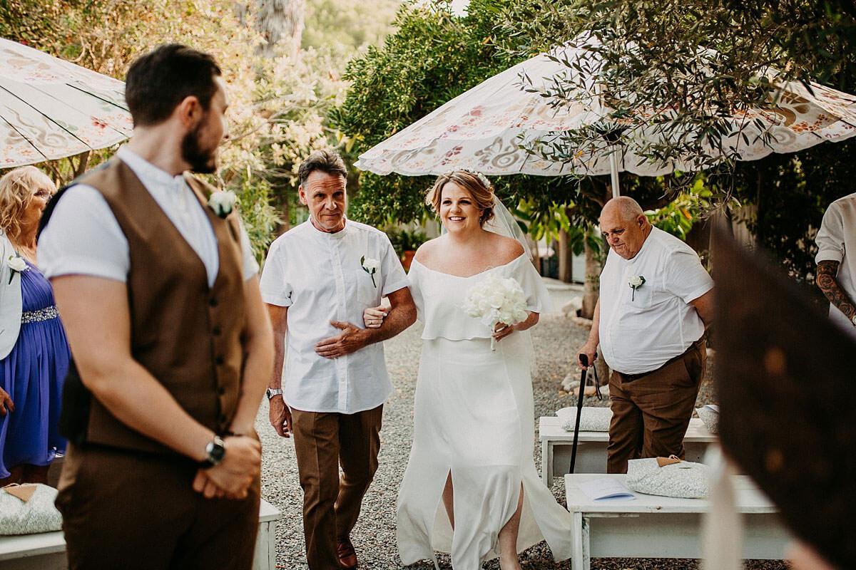 Outdoor wedding ceremony Ibiza