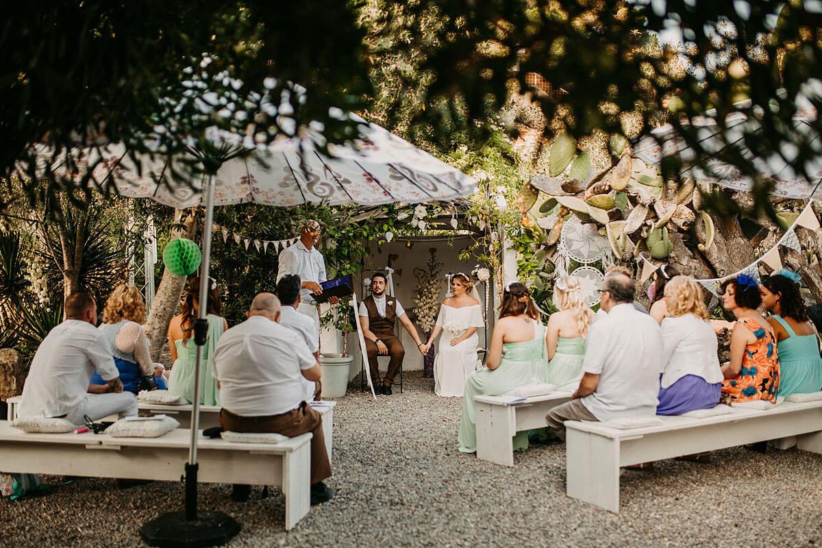 Outdoor wedding Hidden Bar Ibiza