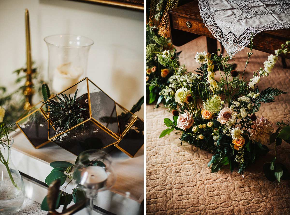 Beautiful woodland wedding decor
