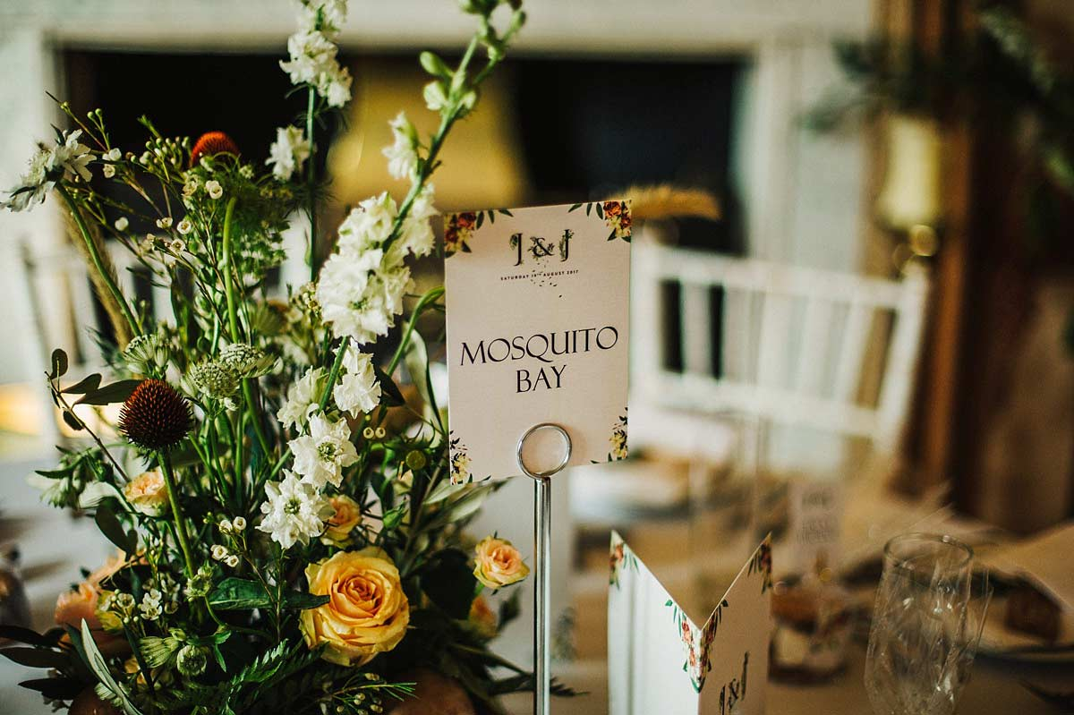 Woodland themed table decor