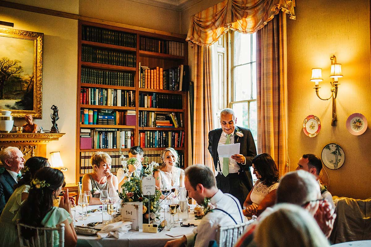 East Bridgford Hill wedding breakfast room