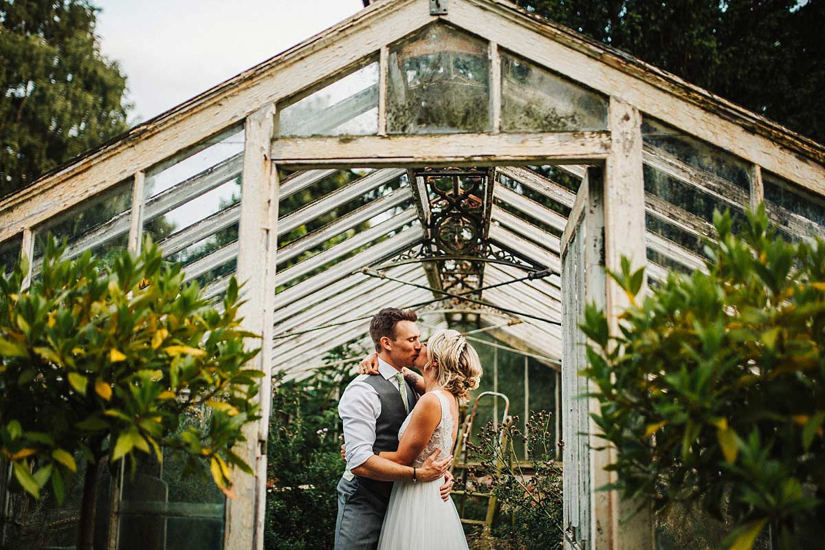 Romantic photos in the greenhouse