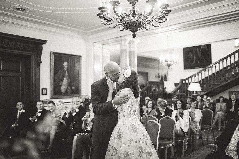 First kiss at Walcot Hall
