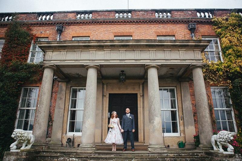 Fun wedding photo at Walcot Hall