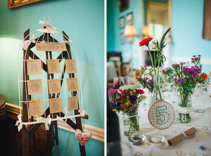 Colourful vintage Walcot Hall Wedding.