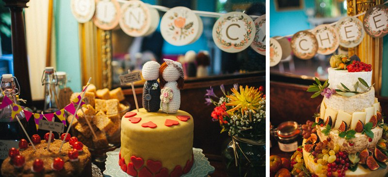 Home made cakes for a quirky vintage wedding