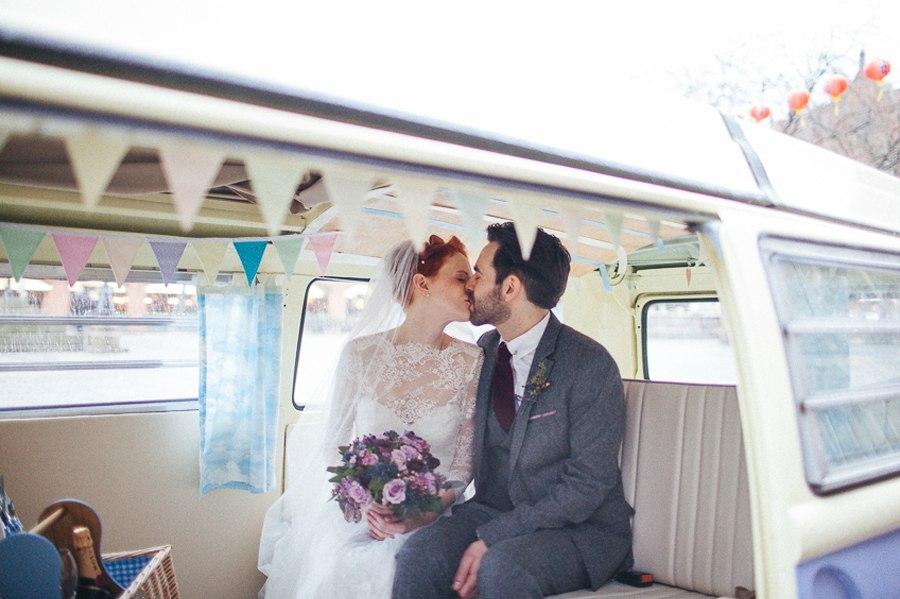 VW camper wedding car Manchester