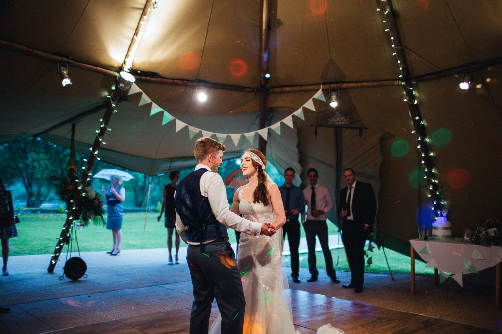 Tipi first dance Yorkshire