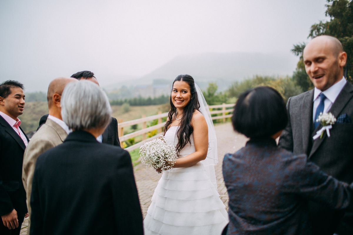 Bride smiling at Fisheman's Retreat wedding