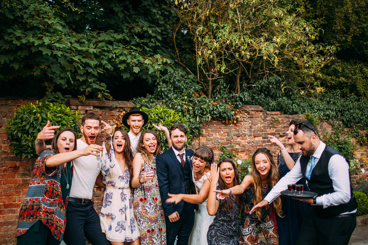 Fun shustoke farm barn wedding