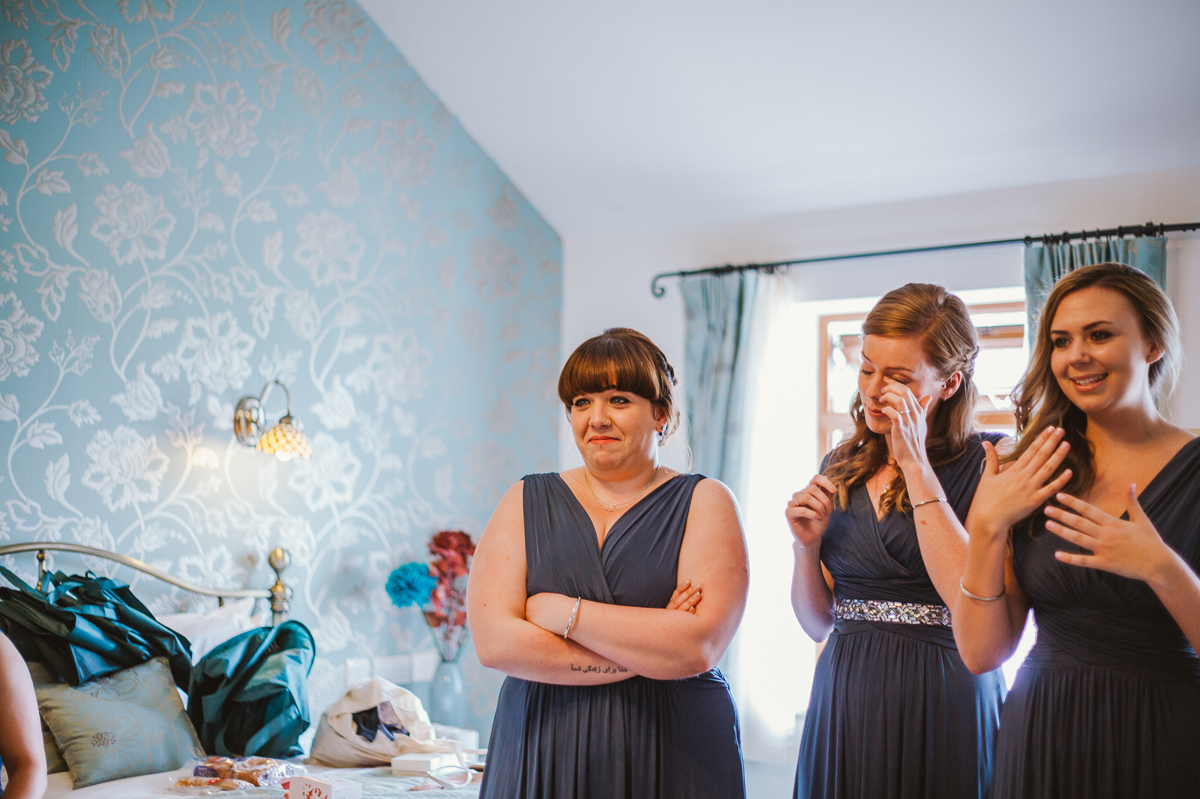 Emotions with the bridesmaids