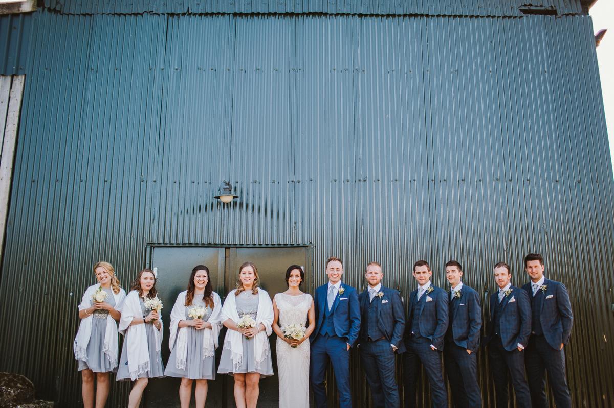Fun wedding photo Upwaltham Barns