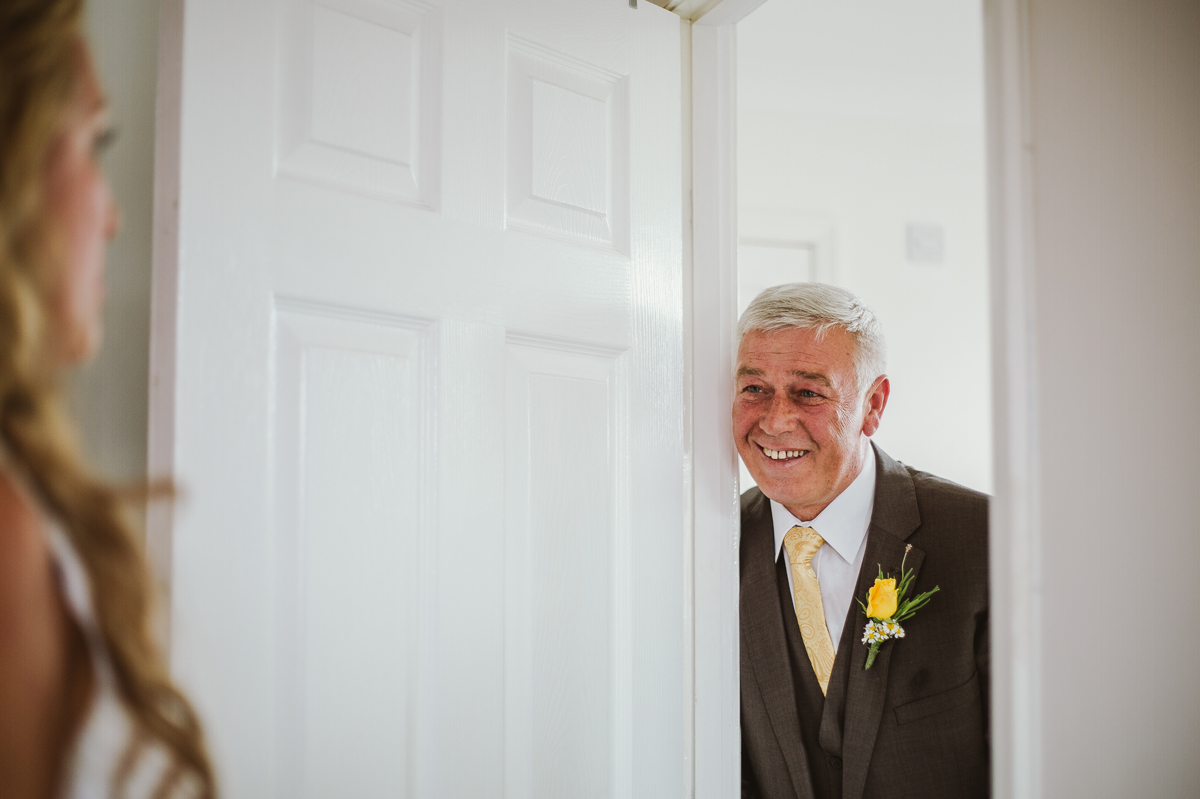 Father of the bride's first look