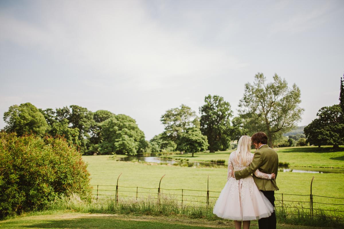 Swinton Park wedding portrait
