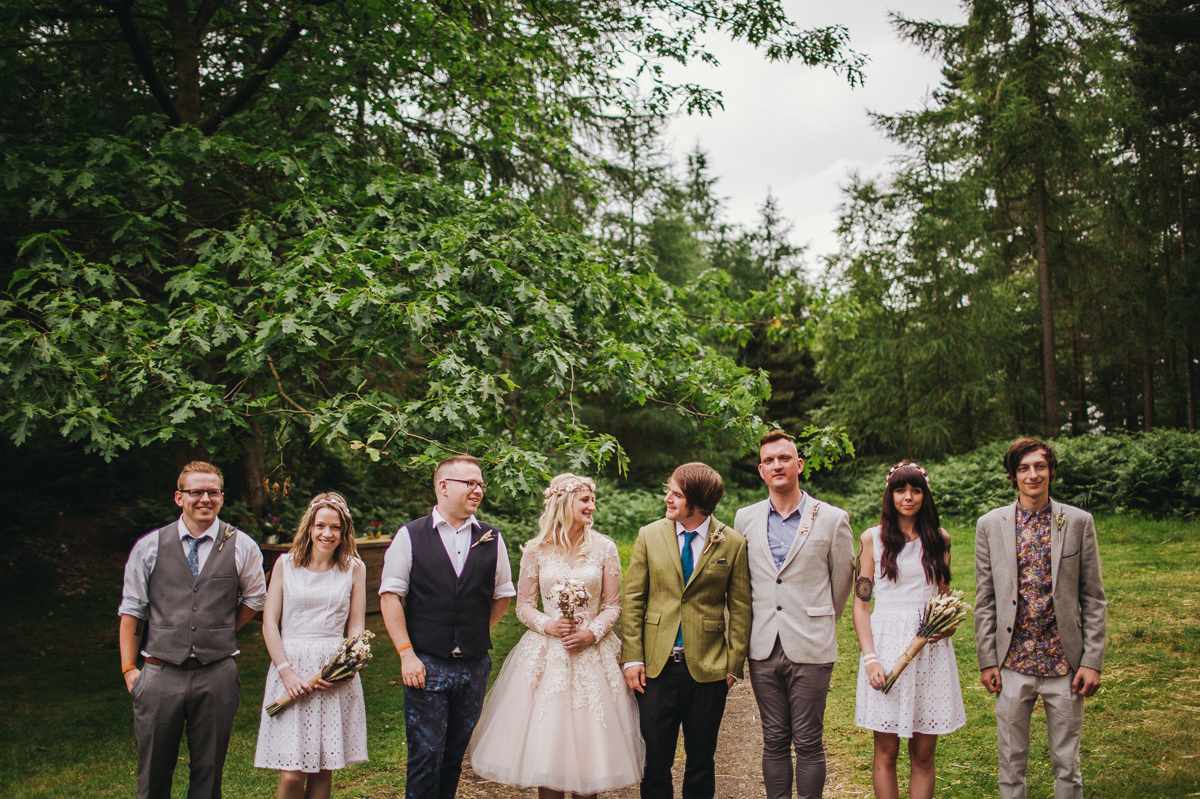 Outdoor tipi wedding portraits