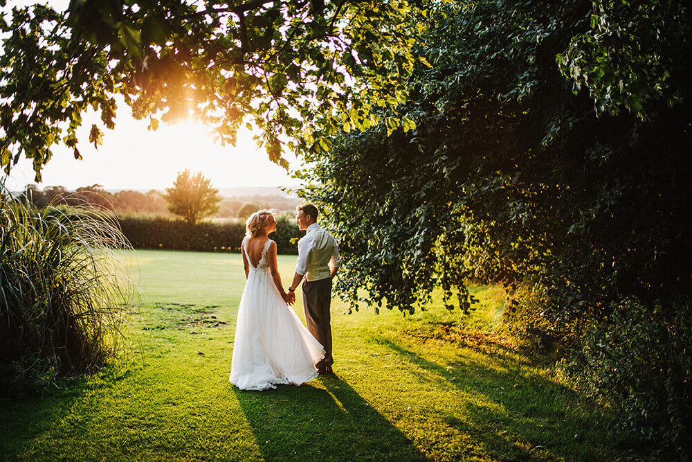 Outdoor woodland wedding at East Bridgford Hill