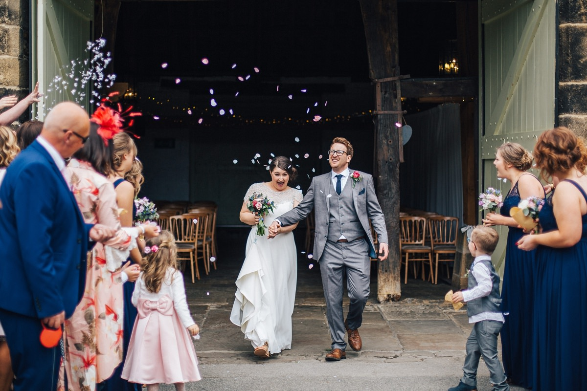 Wedding Confetti, East Riddlesden Hall.